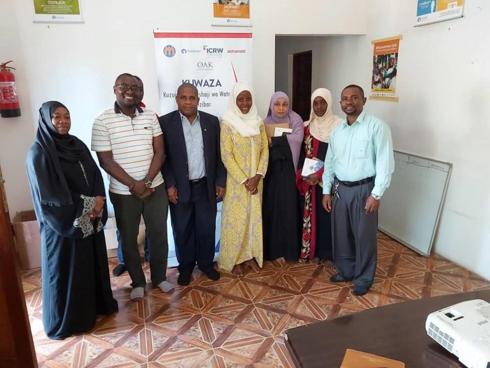 The registrar of NGOs Zanzibar visits KUWAZA offices.