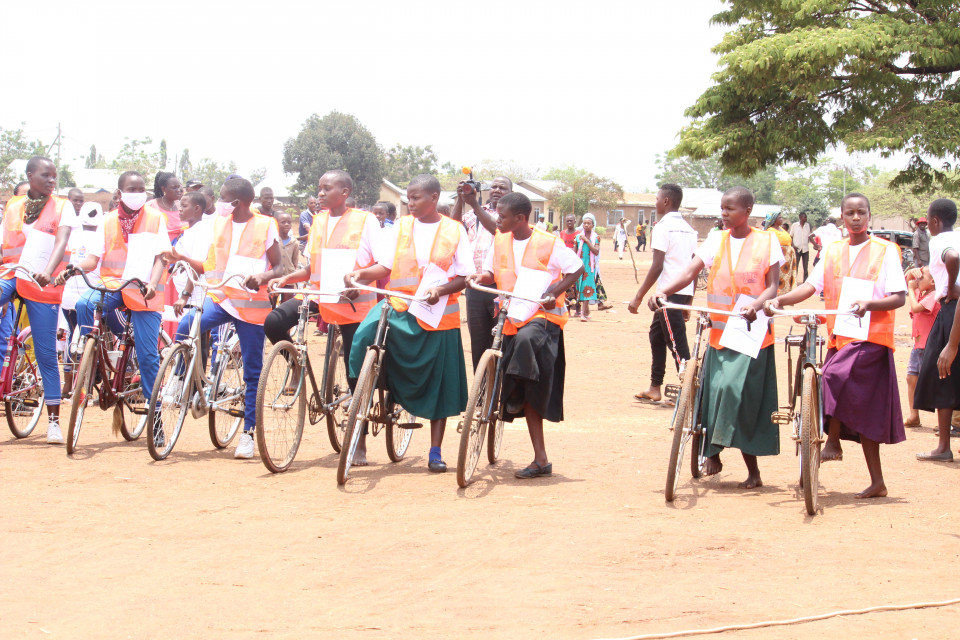 Girls' bicycle tournament on the International Day Of The Girl Child 2020